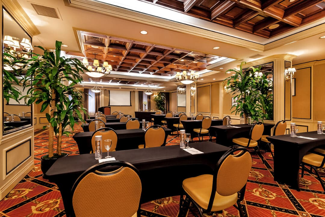 private event space with tables